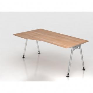 Büro Schreibtisch 180x80/100 cm Freiform Modell AS18 stufenlos höheneinstellbar