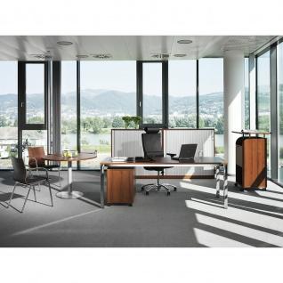 Konferenztisch Bürotisch Beistelltisch StehtischTellerfuß H:1135 mm D:800 mm Alu oder verchromt - Vorschau 2