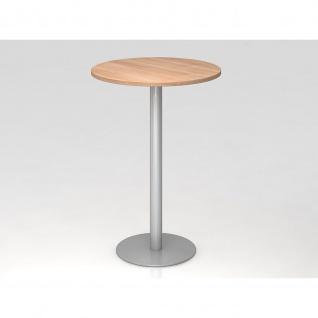 Bistro Tisch Stehtisch Besprechungstisch 08 silber 80 cm Durchmesser - Vorschau 5