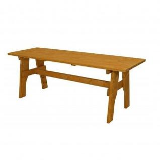 Gartentisch Holztisch Tisch aus Kiefernholz massiv hellbraun