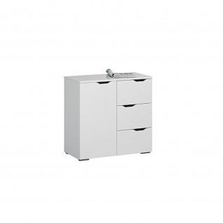 Kommode 7270 in weiß Hochglanz - Icy-weiß 80, 1 x 77, 7 x 40 cm