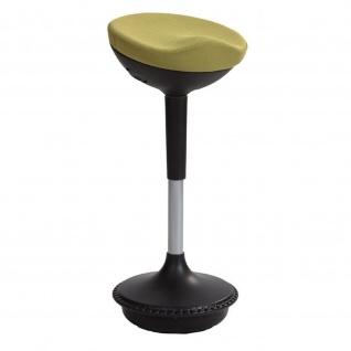 ALBA Sitzhocker Pendelhocker Stehhilfe STOOLY, schwarz / grün