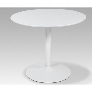 Esstisch Tisch Judy Hochglanz R4226-11 weiss 90 cm