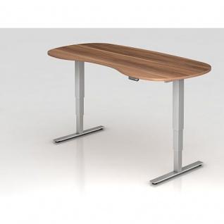 Büro Schreibtisch Stehtisch höhenverstellbar 200x100 cm Nierenform Modell XDSM20 mit Memory-Schalter