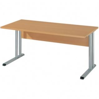 Schreibtisch BÜRO COMBI+ 4, 1.600 mm C-Fußgestell Alu