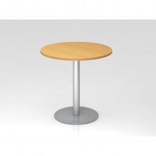 Hammerbacher Bistro Tisch Beistelltisch Besprechungstisch 08 silber 80 cm Durchmesser - Vorschau 3