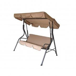 Hollywoodschaukel 3 Sitzer creme-grau 170x110x153cm