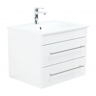 Badmöbel Villeroy&Boch Waschplatz Waschbecken Venticello 60cm mit Unterschrank weiß Hochglanz
