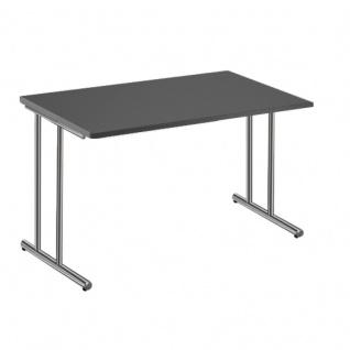 Kerkmann Schreibtisch Artline 120x80 cm C-Fuß chrom