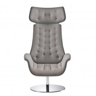 Design Lounge Sessel Kriteria 4-Fußkreuz verchromt einfarbig hohe Lehne mit Steppung