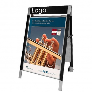 Kerkmann 6899 Plakatständer Elegance, mobiler Kundenstopper für DIN A1 Format, doppelseitig