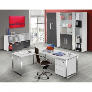 Büro Schreibtisch AVETO 160 x 80 x 68 - 82 cm Kufen-Gestell