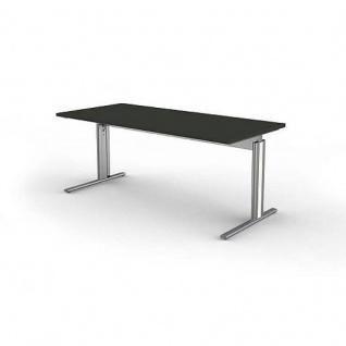 Kerkmann Schreibtisch 3709 Form 4, 180x80x68-82 cm C-Fuß-Gestell Typ B höhenverstellbar - Vorschau 4