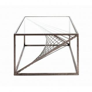 Couchtisch Glastisch antik bronze 100x60x40 cm - Vorschau 4