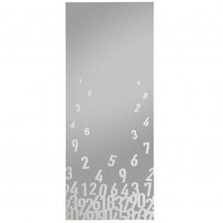 Siebdruckspiegel Numbers, 40x120cm 1 fbg. weiß