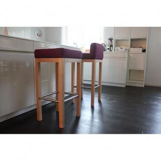 Toms Trendmoebel Design Barhocker Dani echt Holz natur gebeizt Stoff Chilly