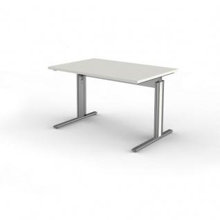 Kerkmann Schreibtisch Form 4, 120x80x68-82 cm C-Fuß-Gestell Typ B höhenverstellbar - Vorschau 2