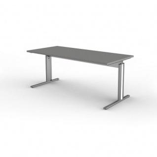 Kerkmann Schreibtisch 3709 Form 4, 180x80x68-82 cm C-Fuß-Gestell Typ B höhenverstellbar - Vorschau 2