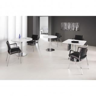 Hammerbacher Bistro Tisch Beistelltisch Besprechungstisch chrom 100 cm Durchmesser - Vorschau 3
