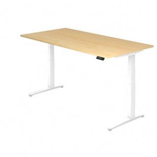 Büro Schreibtisch Stehtisch höhenverstellbar 200x100 cm Modell XBHM2E mit Tast-Schalter