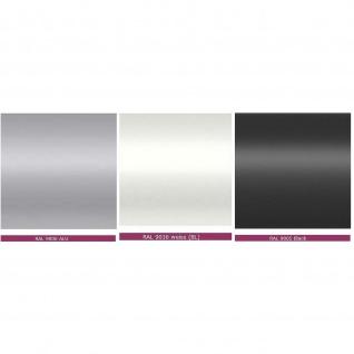 Anbautisch für Konferenztisch Bürotisch E10 Toro D:140 cm Quadratrohrgestell Höhe 740 mm Alu, weiß, dkl.grau schwarz - Vorschau 4