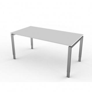 Kerkmann Schreibtisch 4131 Form 5 160x80x68-82 cm Vierfuß-Gestell höhenverstellbar
