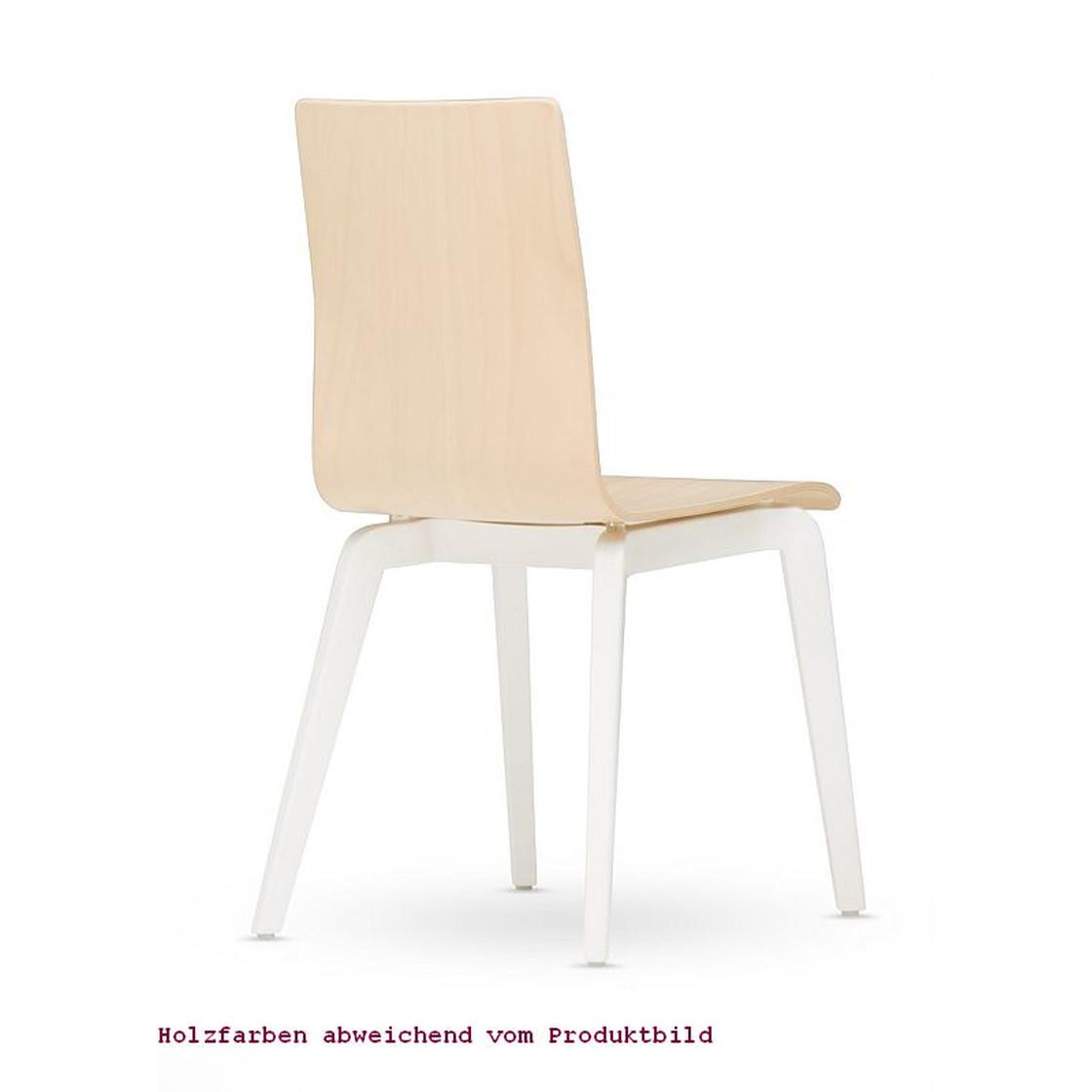 Besucherstuhl Bistrostuhl Cafe VII Wood LGW Seat Plus 4 Bein Holzgestell Sitzpolster