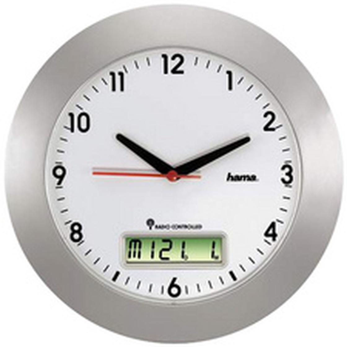 Wanduhr Ø 600 mm Maxi Quarzuhr Uhr silber-weiß CEP Orium