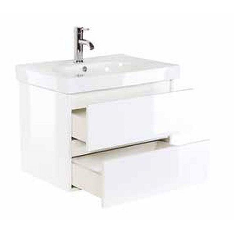 Badmöbel Badezimmer Waschbecken Waschplatz Kali 70 weiß hochglanz ...