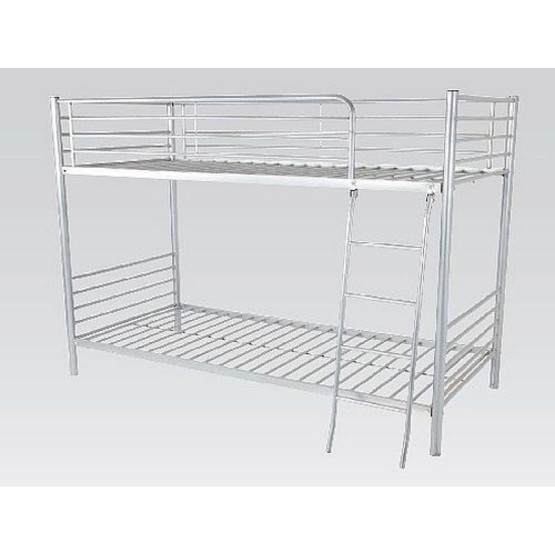 Etagenbett Jugendbett R0640 87 Metall Bett 90 X 200 Cm Silberfarben 1