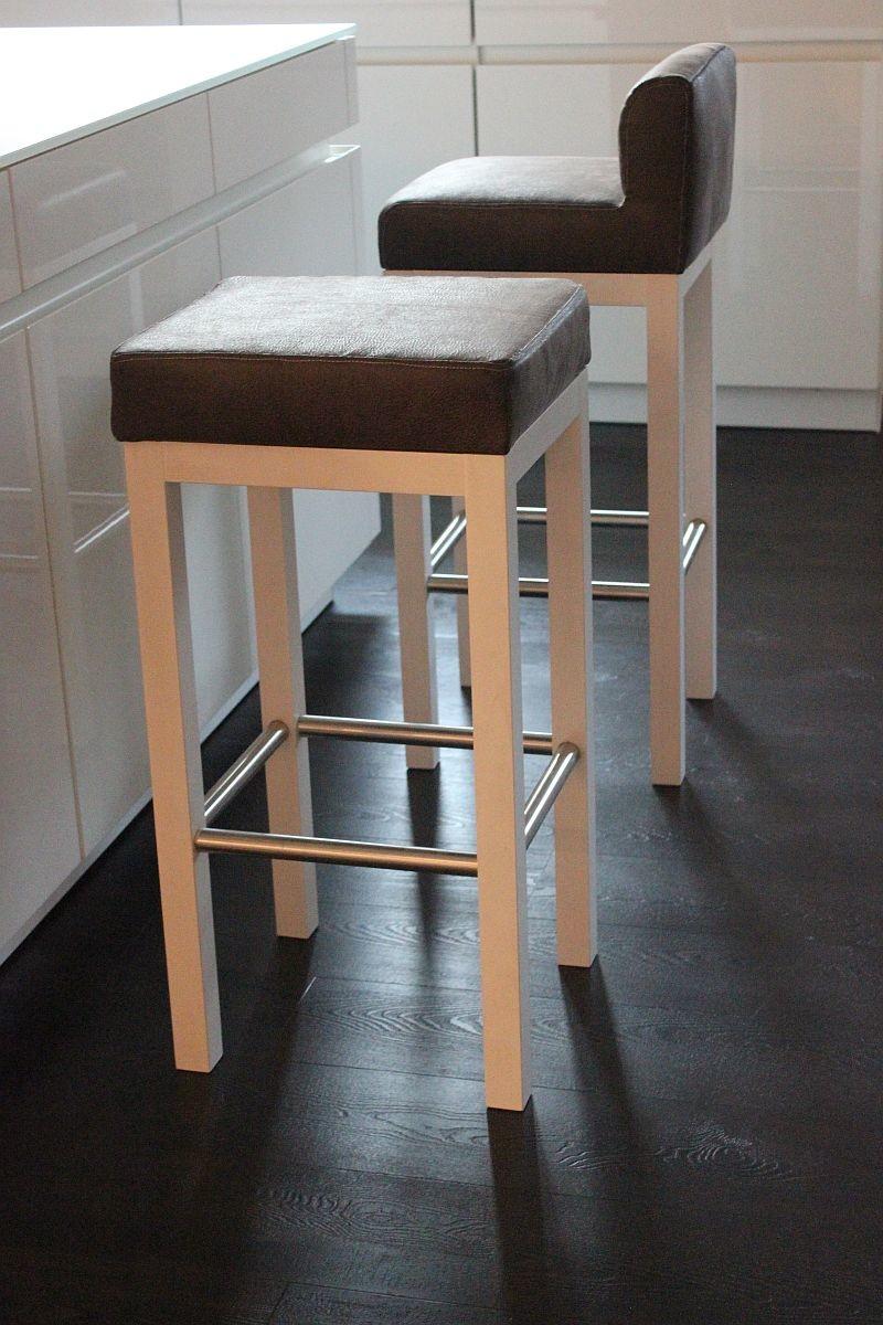 Toms Trendmoebel Design Barhocker Doreen Mit Lehne Echt Holz Natur