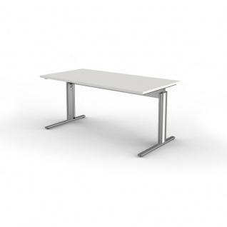 Schreibtisch Form 4, 160x80x68-82 cm C-Fuß-Gestell Typ B höhenverstellbar