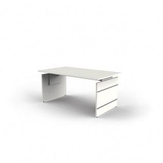 Schreibtisch Form 4 160x80x68-76 cm Wangen-Gestell