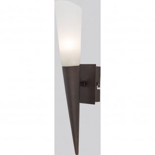 LED Wandleuchte 1-flg. Riverpool rostf., Glas alabaster