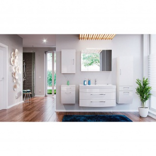 Badmöbel-Set Bad Badezimmer Rima 5-teilig weiß