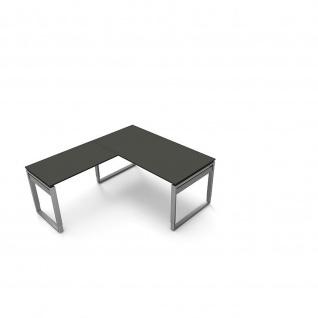 Kerkmann Schreibtisch 4038 Form 5 160x80x68-82 cm Bügel-Gestell höhenverstellbar mit Anbautisch - Vorschau 5
