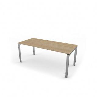 Kerkmann Schreibtisch 4132 Form 5 180x80x68-82 cm Vierfuß-Gestell höhenverstellbar