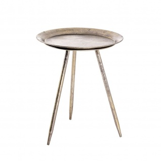 Beistelltisch Couchtisch Tisch antik-bronze D:47 cm H:39cm