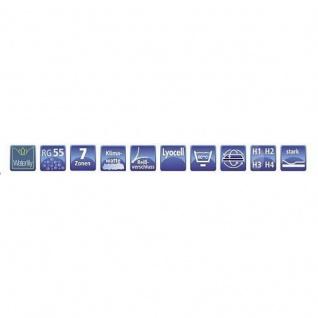 Hukla Matratze Emotion Pro Ks 140 x 200 cm 7 Zonen Waterlily Kern