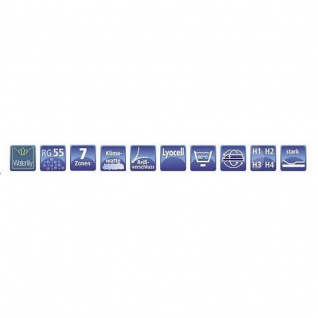 Hukla Matratze Emotion Pro Ks 160 x 200 cm 7 Zonen Waterlily Kern