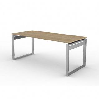 Kerkmann Schreibtisch 4032 Form 5 180x80x68-82 cm Bügel-Gestell höhenverstellbar