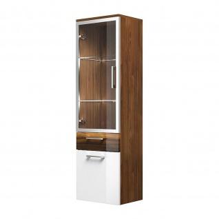 Badmöbel Badezimmer Gästebad Hochschrank Rima, mit Glastür, gerader Unterbau - Vorschau 4