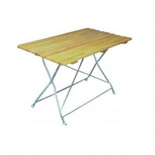 Klapptisch Holztisch Gartentisch Tisch, Gestell verzinkt 70x110 cm