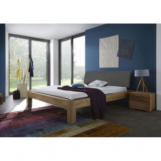 Modernes Bett Doppelbett Massivholz Lotus Premium SE380.00 Kernbuche/Wildeiche