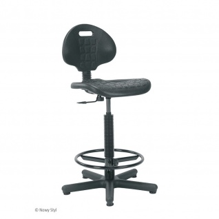 Arbeitsstuhl Werkstuhl Stuhl Nargo + Ringbase - mit Fußring höhenverstellbar