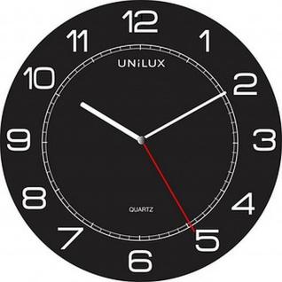 UNiLUX Wanduhr/Quarzuhr MEGA Durchmesser: 600 mm, schwarz