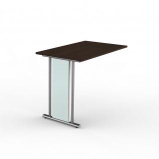 Büro Anbau Schreibtisch Lugano 100 x 60 x 75 cm C-Fuß-Gestell - Vorschau 3
