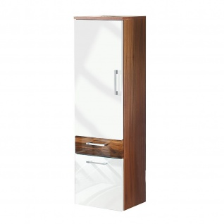 Badmöbel Badezimmer Gästebad Hochschrank Rima, gerade Hochglanz MDF-Fronten - Vorschau 3