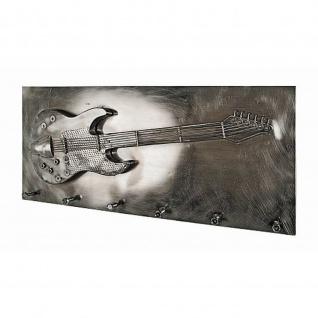 Wandgarderobe Gitarre Stahl Vintage Look und 3D Optik