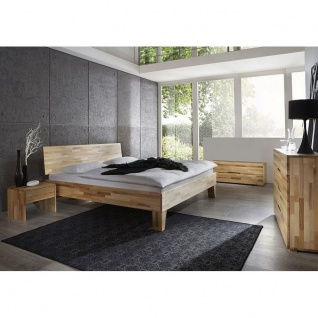 Modernes Einzelbett Doppelbett Massivholz Daisy Summer 360.43 Kernbuche/Buche